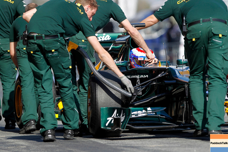 2012 Formula One Barcelona Test Day One<br /> Circuit de Catalunya, Barcelona, Spain<br /> 1st March 2012<br /> Vitaly Petrov, Caterham F1 Team. Action. <br /> World Copyright: Andrew Ferraro/LAT Photographic<br /> ref: Digital Image _Q0C4332<br /> Courtesy of Caterham