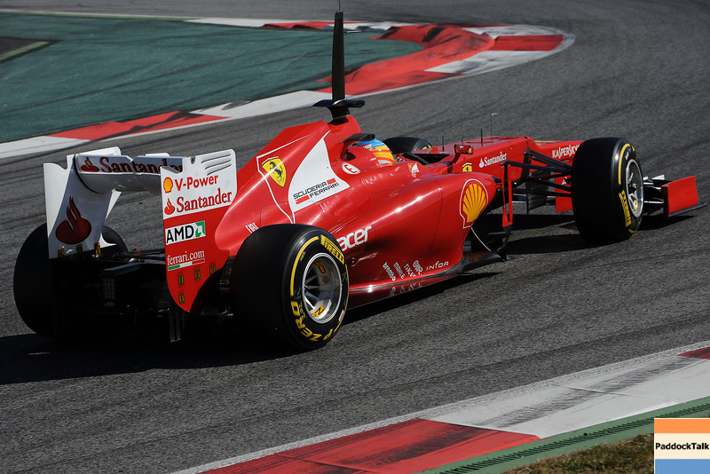 BARCELLONA (SPAIN) 02/03/2012 - TEST F1/2012 - FERNANDO ALONSO Courtesy of Pirelli