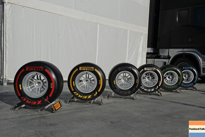 BARCELLONA (SPAIN) 24/02/2012 - TEST F1/2012 - PIRELLI TYRES Courtesy of Pirelli