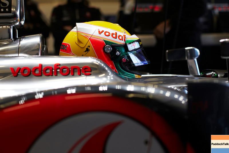 Lewis Hamilton Testing Courtesy of McLaren