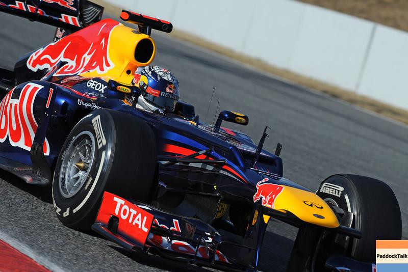 BARCELLONA (SPAIN) 02/03/2012 - TEST F1/2012 - SEBASTIAN VETTEL Courtesy of Pirelli