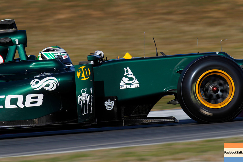 2012 Formula One Barcelona Test Day Two<br /> Circuit de Catalunya, Barcelona, Spain<br /> 2nd March 2012<br /> Heikki Kovalainen, Caterham F1 Team. Action. <br /> World Copyright:Andrew Ferraro/LAT Photographic<br /> ref: Digital Image _Q0C6003