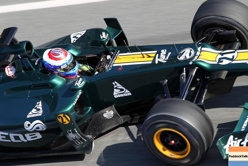 2012 Formula One Barcelona Test Day One<br /> Circuit de Catalunya, Barcelona, Spain<br /> 1st March 2012<br /> World Copyright:Lorenzo Bellanca/LAT Photographic<br /> ref: Digital Image GU5G8998<br /> Courtesy of Caterham