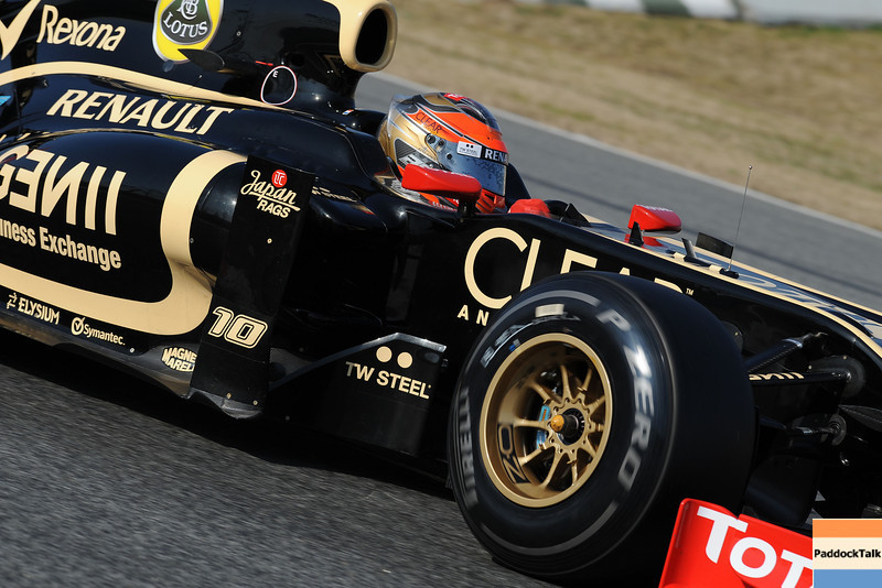 BARCELLONA (SPAIN) 02/03/2012 - TEST F1/2012 - ROMAIN GROSJEAN