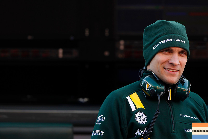 2012 Formula One Barcelona Test Day Two<br /> Circuit de Catalunya, Barcelona, Spain<br /> 2nd March 2012<br /> Vitaly Petrov, Caterham F1 Team. Portrait. <br /> World Copyright:Andrew Ferraro/LAT Photographic<br /> ref: Digital Image _Q0C5057<br /> Courtesy of Caterham