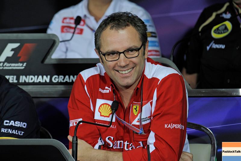 Ferrari team boss Stefano Domenicali 2012 India Grand Prix PaddockTalk/Courtesy of Ferrari