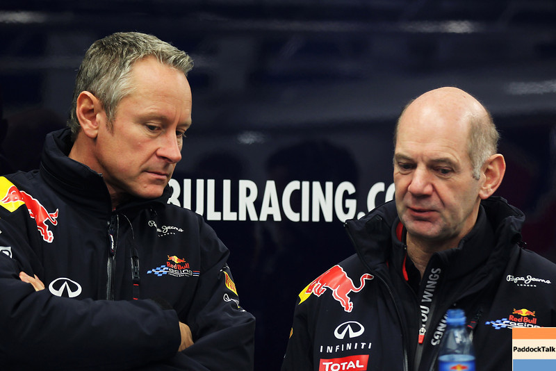 GEPA-07021299004 - FORMULA 1 - Testing in Jerez. Image shows team manager Jonathan Wheatley and technical officer Adrian Newey (Red Bull Racing). Images Courtesy Of Their Respective Teams