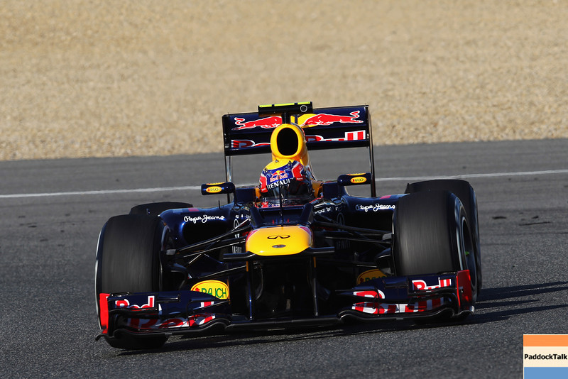 GEPA-07021299024 - FORMULA 1 - Testing in Jerez. Image shows Mark Webber (AUS/ Red Bull Racing). Images Courtesy Of Their Respective Teams