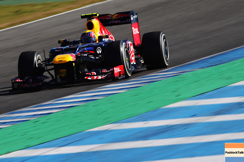 GEPA-07021299020 - FORMULA 1 - Testing in Jerez. Image shows Mark Webber (AUS/ Red Bull Racing). Images Courtesy Of Their Respective Teams
