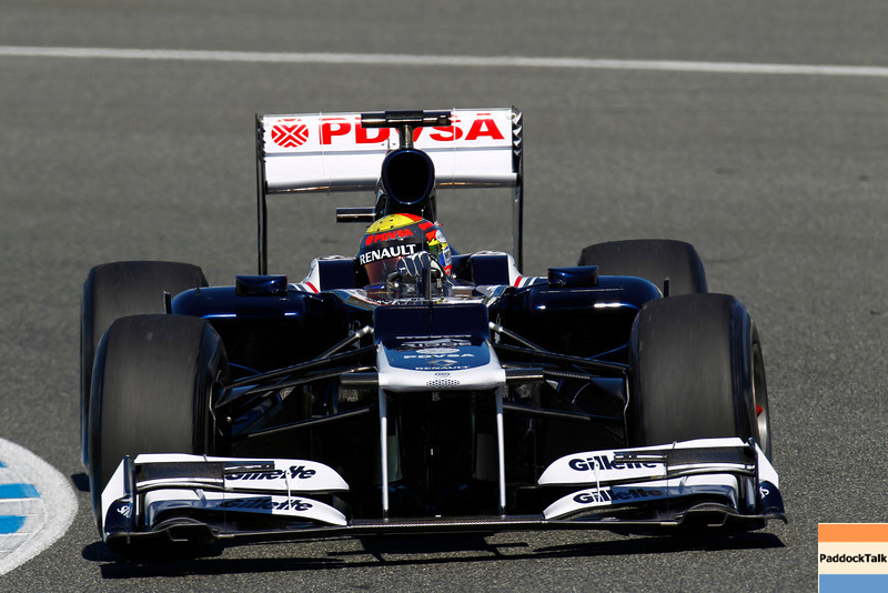 2012 Formula One Jerez Test Day One<br /> Circuito de Jerez, Jerez de la Frontera, Spain<br /> 7th February 2012<br /> Pastor Maldonado, Williams FW34 Renault. Images Courtesy Of Their Respective Teams