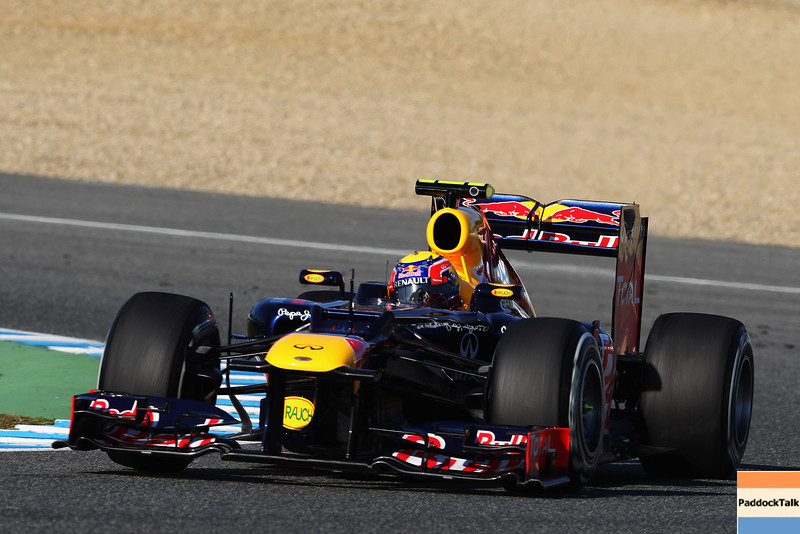 GEPA-07021299023 - FORMULA 1 - Testing in Jerez. Image shows Mark Webber (AUS/ Red Bull Racing). Images Courtesy Of Their Respective Teams