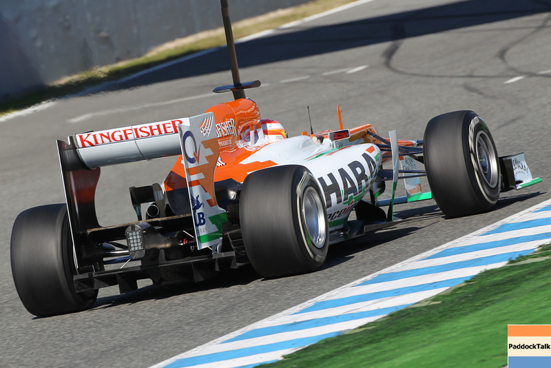 Paul di Resta (GBR) Sahara Force India VJM05. <br /> Formula One Testing, Jerez, Spain. 6-10 February 2012. Images Courtesy Of Their Respective Teams