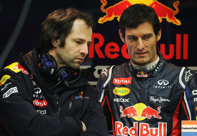 GEPA-07021299000 - FORMULA 1 - Testing in Jerez. Image shows race engineer Ciaron Pilbeam and Mark Webber (AUS/ Red Bull Racing). Images Courtesy Of Their Respective Teams
