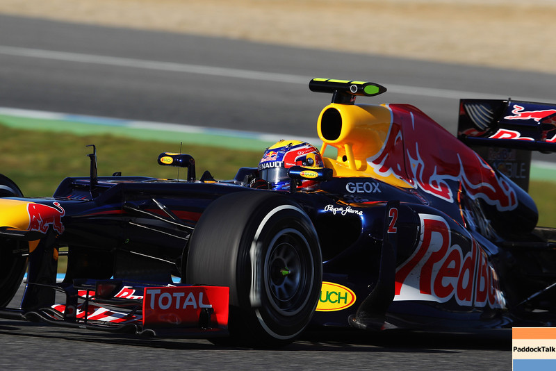 GEPA-07021299022 - FORMULA 1 - Testing in Jerez. Image shows Mark Webber (AUS/ Red Bull Racing). Images Courtesy Of Their Respective Teams