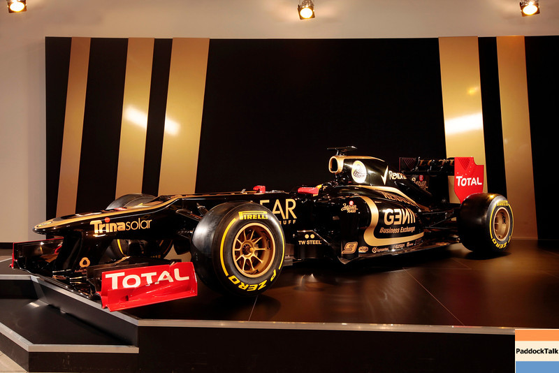 2012 Lotus F1 Team Launch.<br /> Whiteways Technical Centre, Enstone, Oxfordshire United Kingdom.<br /> 2nd February 2012.<br /> World Copyright: Andrew Ferraro/LAT Photographic<br /> ref: _MG_8870