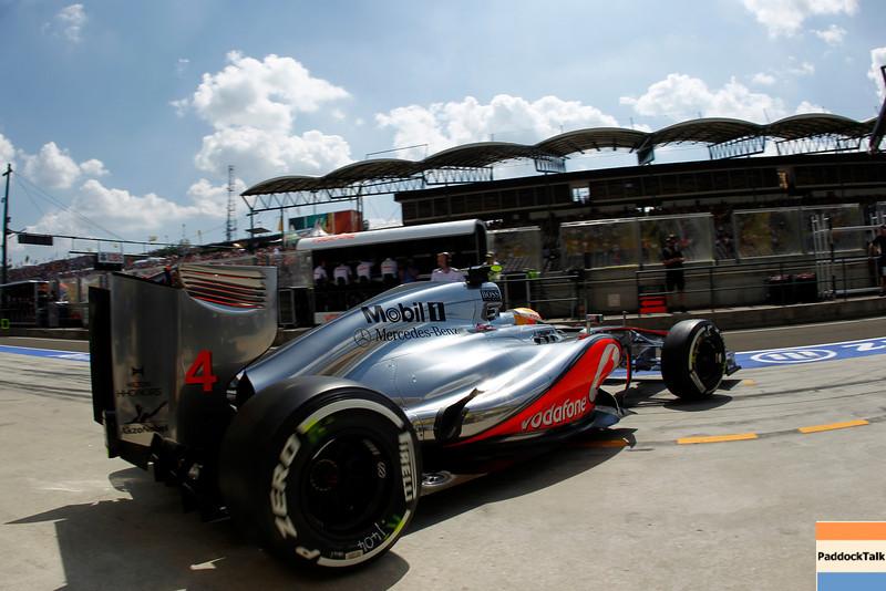 Lewis Hamilton at Hungarian Grandprix PaddockTalk/Courtesy Of McLaren