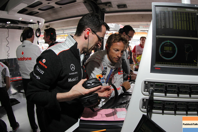 Dave Robson and Jenson Button at German GP PaddockTalk/Courtesy Of McLaren