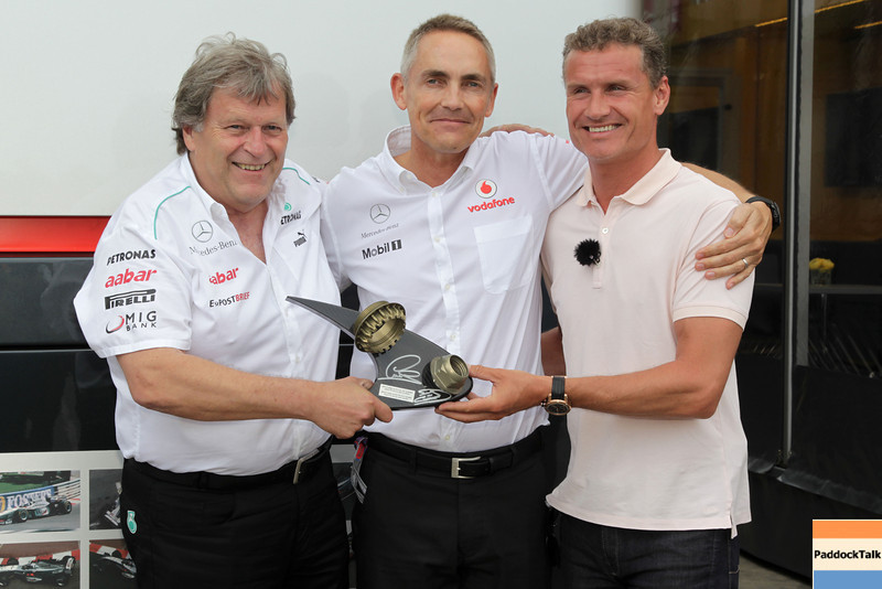Norbert Haug, Martin Whitmarsh and David Coulthard at European GP PaddockTalk/Courtesy Of McLaren