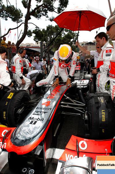 Lewis Hamilton at Monaco GP PaddockTalk/Courtesy Of McLaren