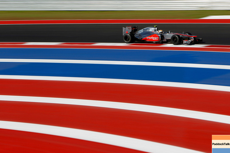 Lewis Hamilton at United States GP PaddockTalk/Courtesy Of McLaren
