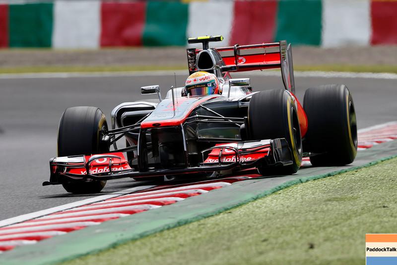 Lewis Hamilton at Japanese GP PaddockTalk/Courtesy Of McLaren