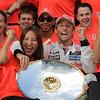 Jenson Button celebrates victory at Belgian GP PaddockTalk/Courtesy Of McLaren