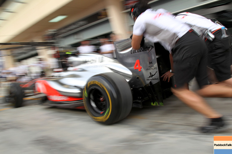Pit stop training at Bahrain GP PaddockTalk/Courtesy Of McLaren