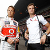 Jenson Button and Mike Collier at Chinese GP PaddockTalk/Courtesy Of McLaren