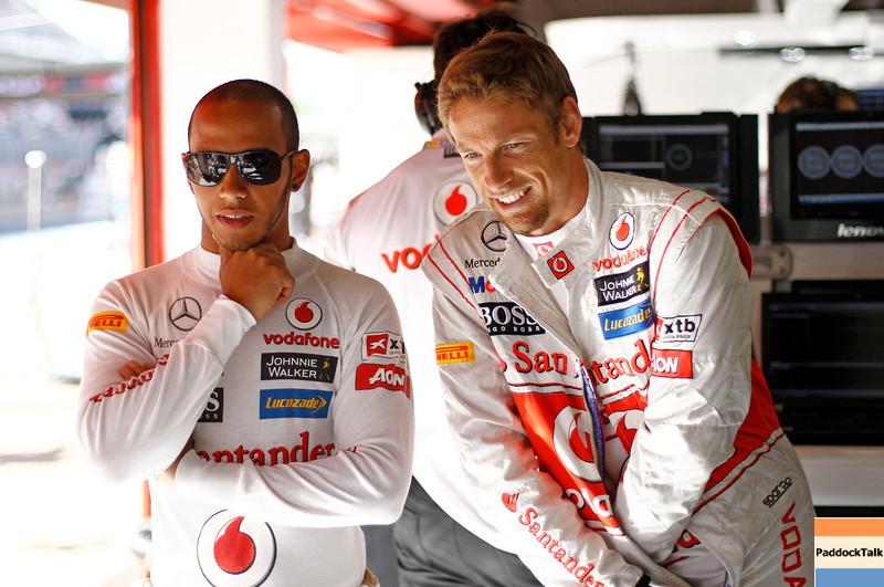 Lewis Hamilton and Jenson Button at Spanish GP PaddockTalk/Courtesy Of McLaren