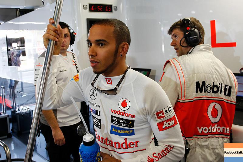 Lewis Hamilton at Italian GP PaddockTalk/Courtesy Of McLaren