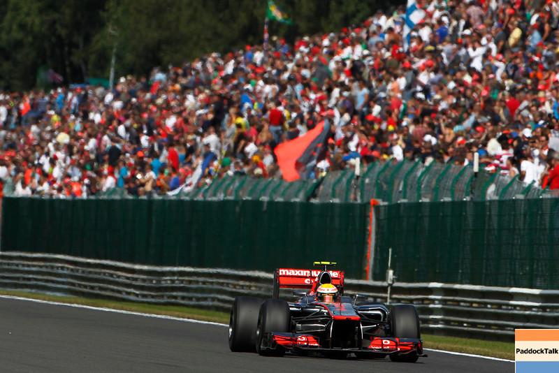 Lewis Hamilton at Belgian GP PaddockTalk/Courtesy Of McLaren