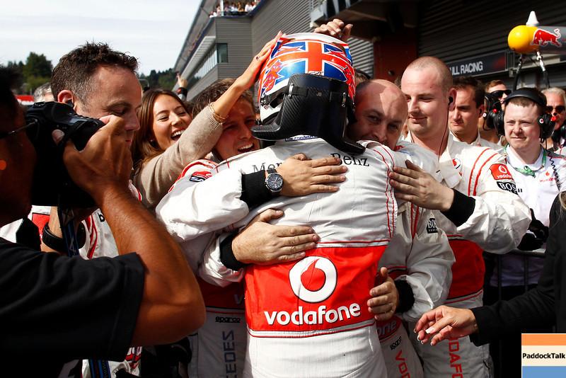 Jessica Michibata and Jenson Button at Belgian GP PaddockTalk/Courtesy Of McLaren