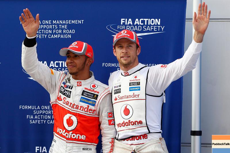 Lewis Hamilton and Jenson Button at Malaysian GP PaddockTalk/Courtesy Of McLaren