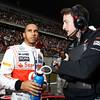 Lewis Hamilton and Phil Prew at Chinese GP PaddockTalk/Courtesy Of McLaren