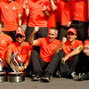 Lewis Hamilton, Martin Whitmarsh and Jenson Button at Italian GP PaddockTalk/Courtesy Of McLaren