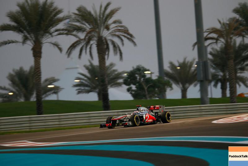Jenson Button at Abu Dhabi GP PaddockTalk/Courtesy Of McLaren