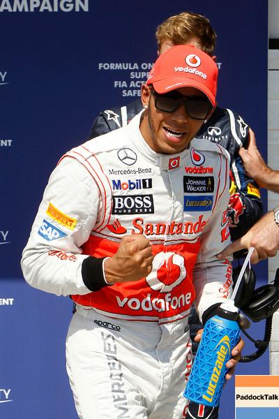 Jenson Button at Hungarian Grandprix<br /> Lewis Hamilton at Hungarian Grandprix PaddockTalk/Courtesy Of McLaren