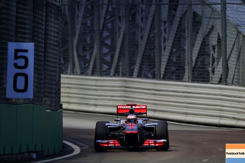 Jenson Button at Singapore GP PaddockTalk/Courtesy Of McLaren