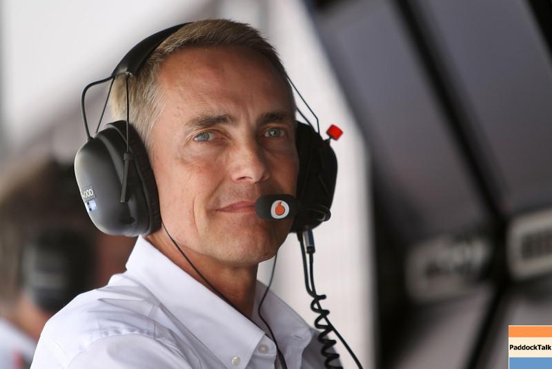 Motorsports: FIA Formula One World Championship 2012, Grand Prix of Bahrain, <br /> Martin Whitmarsh (GBR, Teamchef Vodafone McLaren Mercedes), PaddockTalk/Courtesy Of McLaren