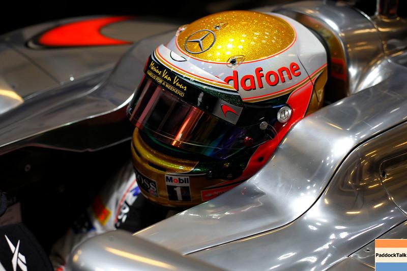 Lewis Hamilton at Abu Dhabi GP PaddockTalk/Courtesy Of McLaren