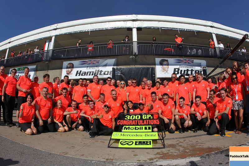McLaren celebrates 300 races with ExxonMobil, Mercedes-Benz and Enkei at the Canadian GP PaddockTalk/Courtesy Of McLaren