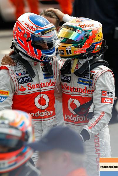 Jenson Button at British GP<br /> Lewis Hamilton at British GP PaddockTalk/Courtesy Of McLaren