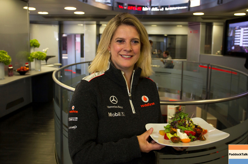 Lyndy Redding at British GP PaddockTalk/Courtesy Of McLaren