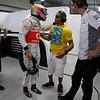 Lewis Hamilton and his brother Nicolas Hamilton at Indian GP PaddockTalk/Courtesy Of McLaren