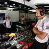 Lewis Hamilton and Martin Whitmarsh at Spanish GP PaddockTalk/Courtesy Of McLaren