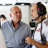 Ron Dennis and Phil Prew at Italian GP PaddockTalk/Courtesy Of McLaren