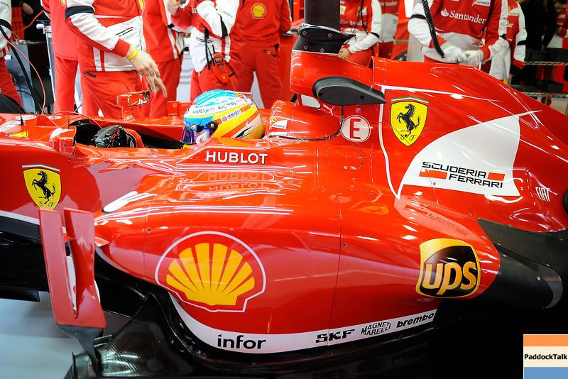 BARCELLONA (SPAGNA) 19/02/2013 - TEST F1 2013 -  <br /> © FOTO STUDIO COLOMBO X FERRARI