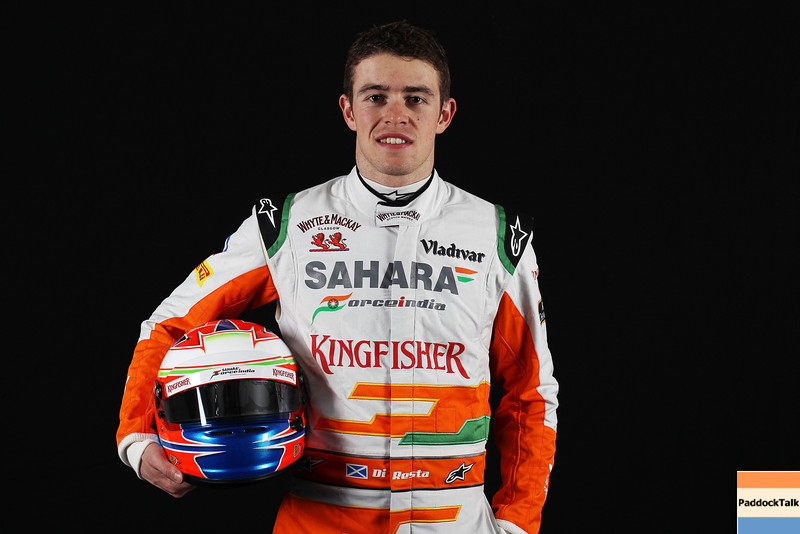 Paul di Resta (GBR) Sahara Force India F1.<br /> Sahara Force India F1 Driver Studio Shoot, Thursday 31st January 2013. Silverstone, England.