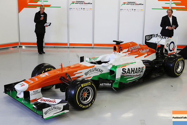 The new Sahara Force India F1 VJM06 is unveiled.Sahara Force India F1 VJM06 Launch, Friday 1st February 2013. Silverstone, England.