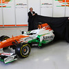 Robert Fearnley (GBR) Sahara Force India F1 Team Deputy Team Principal and Paul di Resta (GBR) Sahara Force India F1 unveil the new Sahara Force India F1 VJM06.<br /> Sahara Force India F1 VJM06 Launch, Friday 1st February 2013. Silverstone, England.
